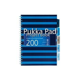 KOŁOZESZYT A4/200 PUKKA PAD PROJECT BOOK NAVY Niebieski