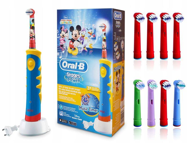Szczoteczka dla dzieci Braun ORAL-B MYSZKA MIKI Prezent 8 końcówek zdjęcie 1