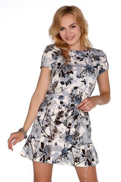 e78de483e0 Mini elegancka sukienka wzorzysta kwiaty S • Arena.pl