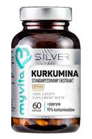 Kurkumina standaryzowany ekstrakt + piperyna 60 kapsułek MyVita Silver Pure