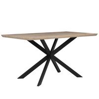 Stół Do Jadalni 140 X 80 Cm Jasne Drewno Z Czarnym Spectra