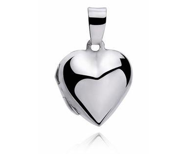 Delikatny srebrny otwierany wisiorek puzderko serce serduszko srebro 925 W0025