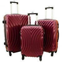 Zestaw 3 walizek PELLUCCI RGL 760 Bordowo Pomarańczowe