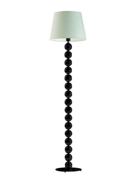 Lampa salonowa BANGKOK stojąca podłogowa SREBRNE KULE zieleń butelkowa zdjęcie 13