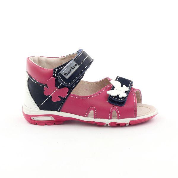 Sandałki dziewczęce motyl Bartuś różowe r.21 zdjęcie 1