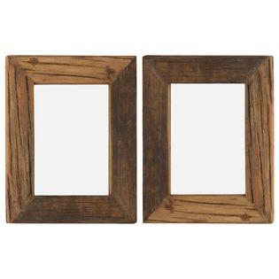 Lumarko Ramki na zdjęcia, 2 szt., 25x30 cm, drewno z odzysku i szkło!