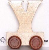 Wagonik z literką Y - LITERKA element z układanki ALFABET POCIĄG