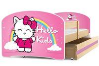 Łóżko pojedyncze 160x80 dla dzieci LUKI parterowe + PROMOCJA