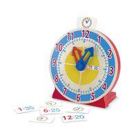 Drewniany zegar edukacyjny do nauki czasu melissa and doug