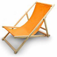 Leżak Plażowy Leżak ogrodowy Kolor Pomarańczowy