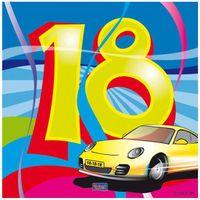 Serwetki urodzinowe na 18 URODZINY super bryka