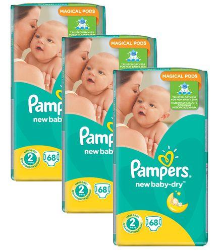 3 x Pampers Pieluszki New Baby 2 Mini 68 szt. na Arena.pl