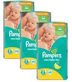 3 x Pampers Pieluszki New Baby 2 Mini 68 szt.