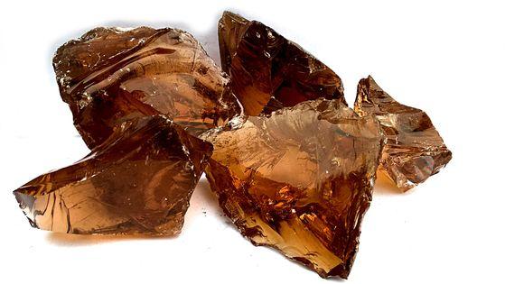 Szkło Dekoracyjne Brązowe Vetro Ambra 1 KG 70-120 mm