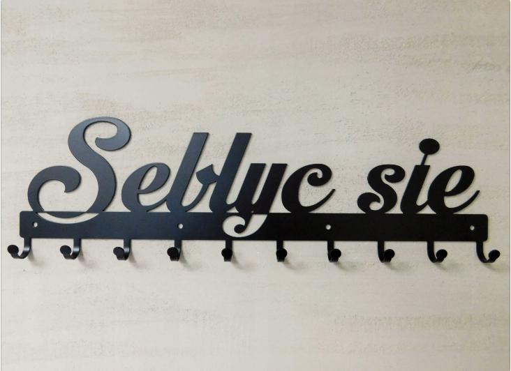Wieszak ścienny na ubrania Seblyc się 60 cm na Arena.pl