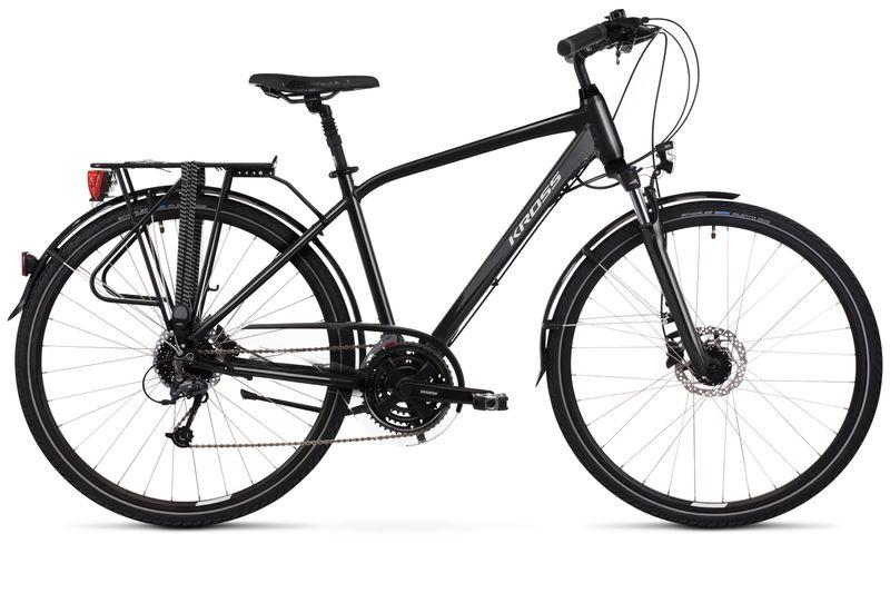 """Kross Trans 5.0 M 28 21"""" czarny/szary połysk rower12 na Arena.pl"""