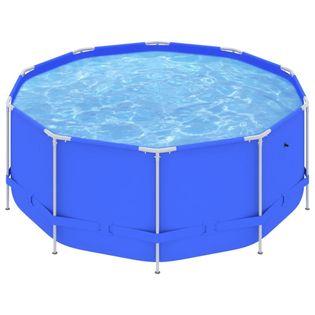 Lumarko Basen na stalowej ramie, 367x122 cm, niebieski!