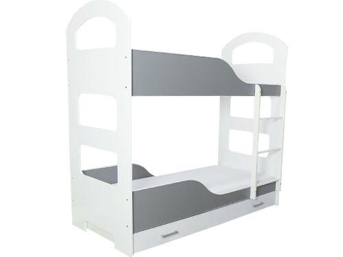 Łóżko piętrowe JACEK 180x80 + 2 materace piankowe + pojemna szuflada na Arena.pl