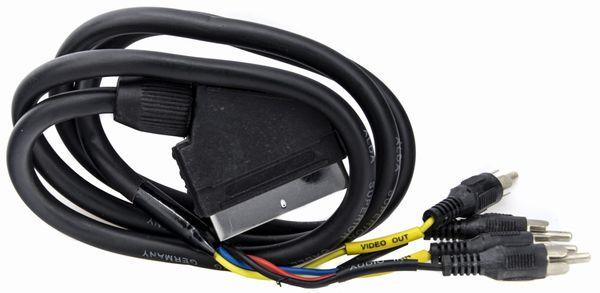 Kabel przewód EURO / SCART - 4x RCA Chinch 1m