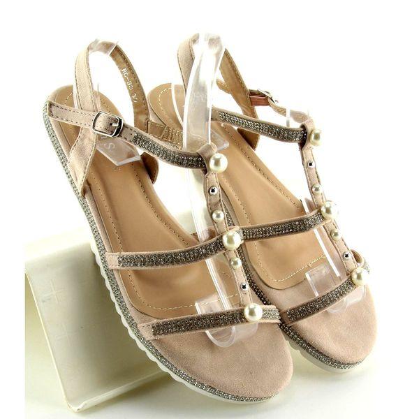 Sandałki z perełkami różowe RC-33 Pink r.36 zdjęcie 4