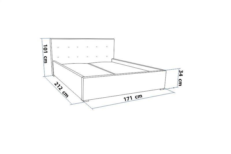 Łóżko tapicerowane 160x200 + stelaż SZYBKA WYSYŁKA zdjęcie 9