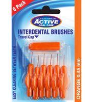 Active Oral Care Interdental Brushes Czyściki Do Przestrzeni Międzyzębowych 0.45Mm 6Szt.