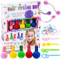 Zestaw farb do kolorowania włosów dla dzieci Pasemka Gumki X158
