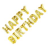 BALONY FOLIOWE urodzinowe HAPPY BIRTHDAY NAPIS HIT