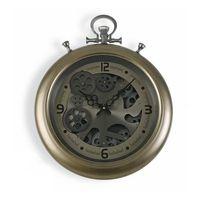 Zegar Ścienny Metal Drewno MDF/Szkło (7 x 50 x 40 cm)
