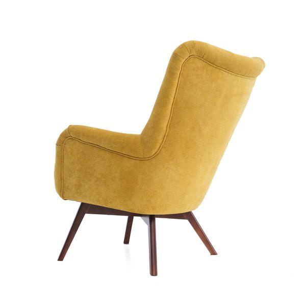 Fotel uszak mały styl skandynawski podnóżek gratis zdjęcie 8