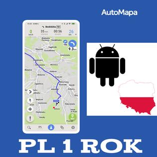 AutoMapa Polski licencja 1 rok - Android