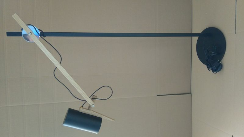 Lampa podłogowa Stork czarna D2 zdjęcie 2
