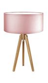 Nocna lampka z drewnianym stelażem SABA E27