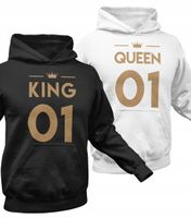 Bluzy dla par z kapturem komplet zestaw KING 01