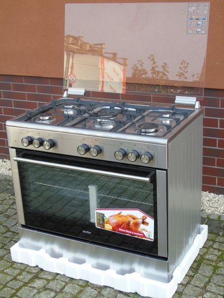Kuchnia Gazowo Elektryczna 5 Palnikow 90cm Arena Pl