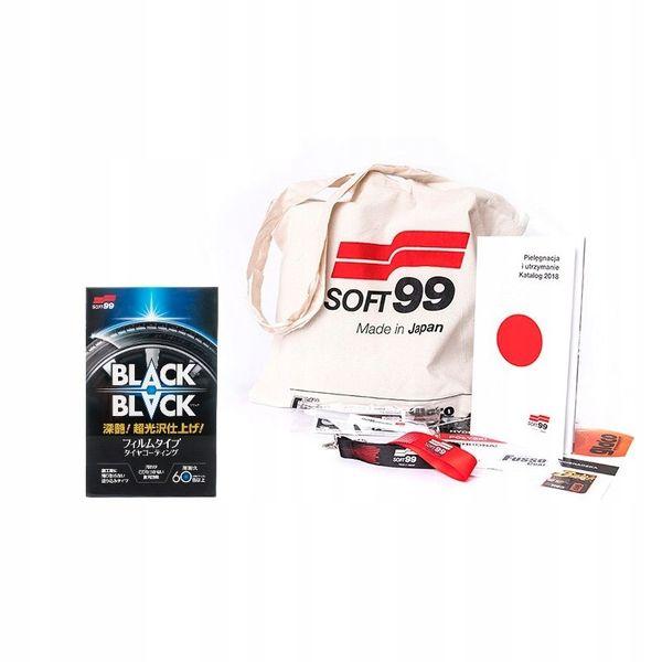 Soft99 black black satynowa powłoka do kół i opon na Arena.pl
