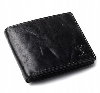 Skórzany portfel męski Zagatto ochrona kart RFID