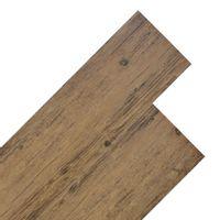 Panele podłogowe z PVC, 5,26 m², 2 mm, orzechowy brąz
