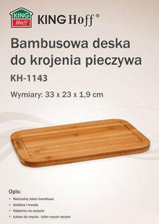 Deska Do Krojenia 33 X 23Cm Bambusowa Kinghoff Kh-1143