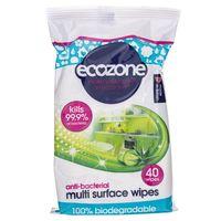 Ecozone Antybakteryjne chusteczki do mycia powierzchni - 40 sztuk