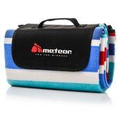 Koc piknikowy Meteor 120x135 cm granatowy/czerwony/biały