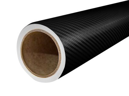 Folia Okleina Termoplastyczna Carbon Karbon 3D 151x50cm CZARNY FC1