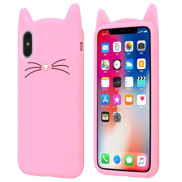 ETUI Case iPhone X Uszy Wąsy Kot zdjęcie 1