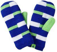 Rękawiczki zimowe dziecięce ADIDAS STRIPY GLOV/MIT - Niebieski    Biały    Zielony M