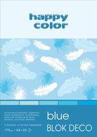 Blok techniczny kolorowy Deco niebieski A4 Happy Color