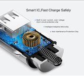 Ładowarka samochodowa 2x USB 4.8A Aluminiowa Floveme zdjęcie 2