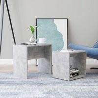 Zestaw stolików kawowych, betonowa szarość, 48x30x45 cm