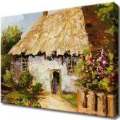 Obraz Na Ścianę 40X30 Wiejski Domek Wiejski Domek