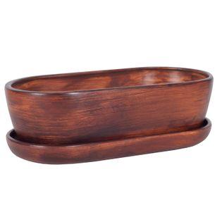Kaktusiarka Ceramiczna 27cm doniczka brąz eco