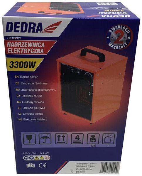 Nagrzewnica elektryczna 3,3 kW Dedra DED9921 zdjęcie 2